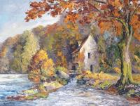 LANDSCAPE OF AUTUMN IN CHAMPROY